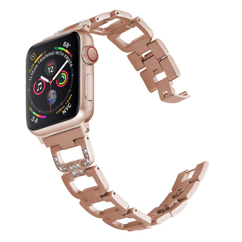 Compatible With Apple Watch Band 38mm 40mm For Apple Watch Series 4 Series 3 Series 2 Series 1 Bling Replacement Bracelet Band Wristband Strap