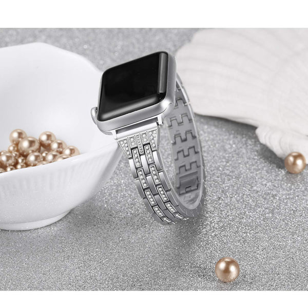 Bling Stainless Steel Watch Strap