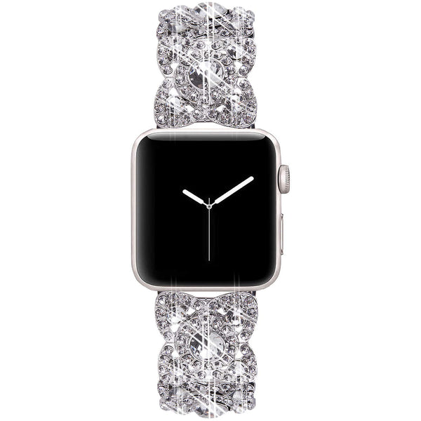 silver white apple watch band