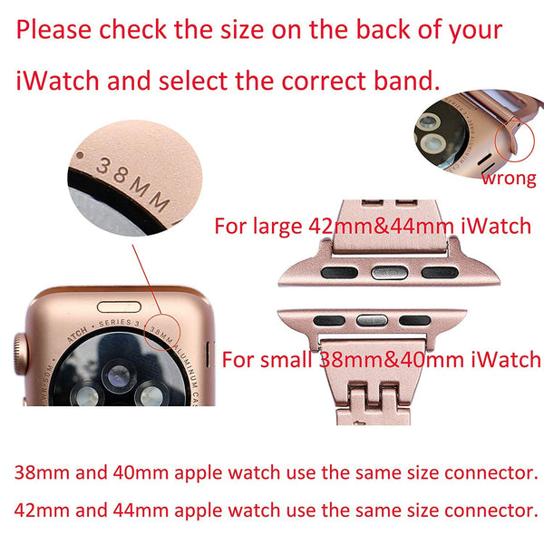 Bracelet Band For Apple Watch Rhinestone Stainless Steel Bracelet Compatible Apple Watch 38mm 40mm iWatch Series 4 3 2 1