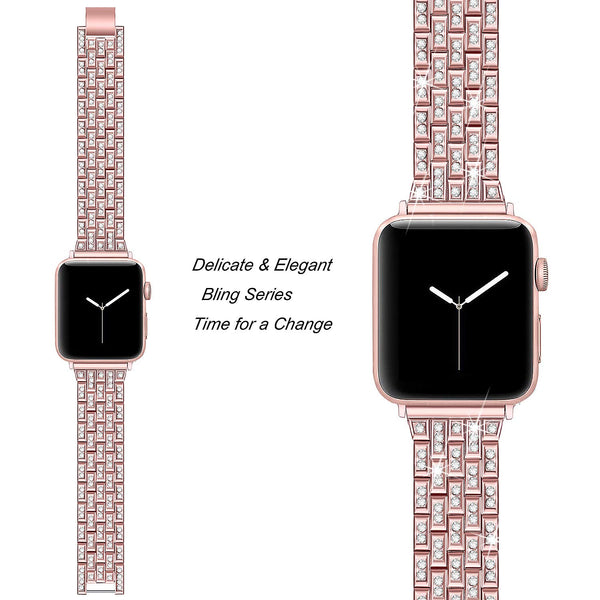 rose gold apple watch series 4 bands