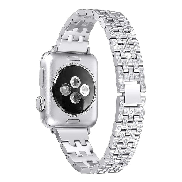 silver color watch band for apple watch
