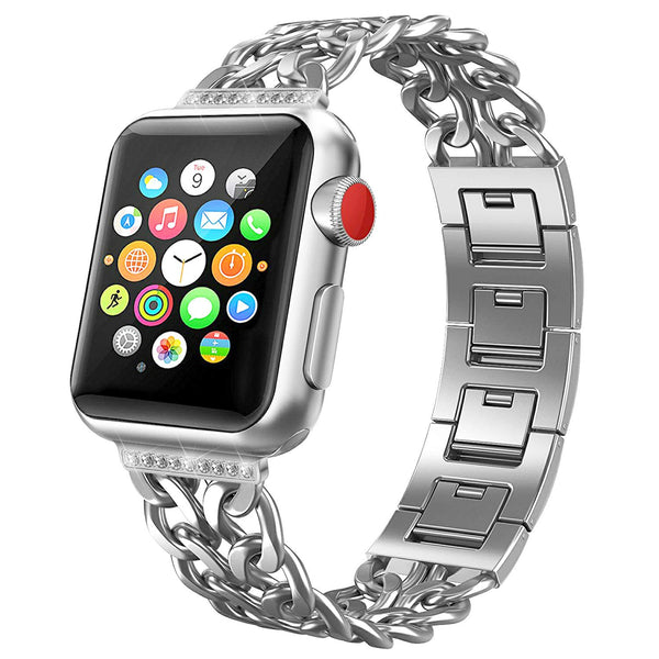 silver band for apple watch 38mm women