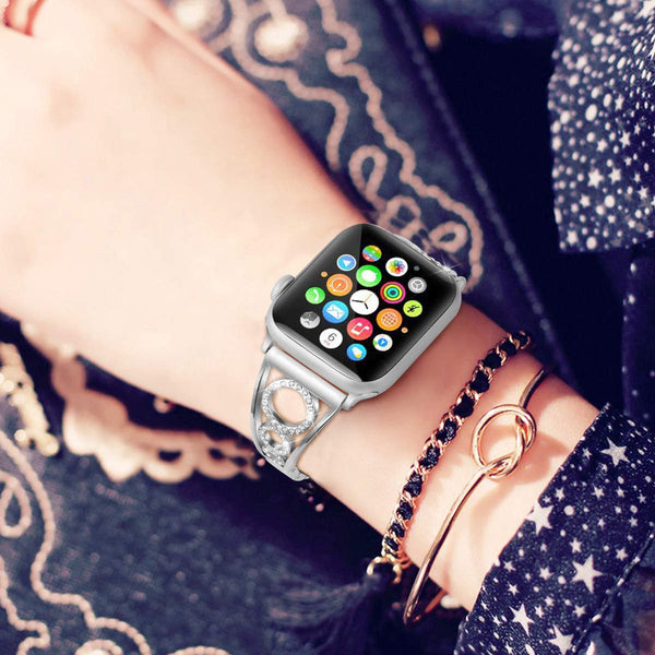cool apple watch bands silver