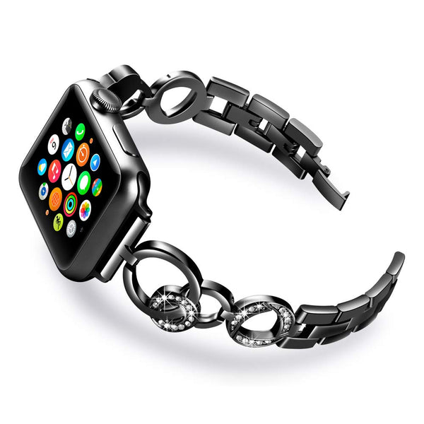black rhinestone apple watch band