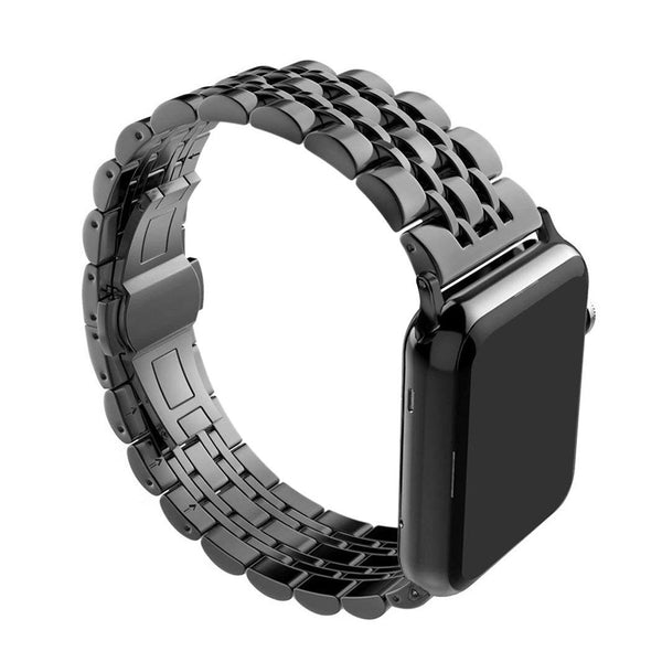 rhinestone apple watch band black