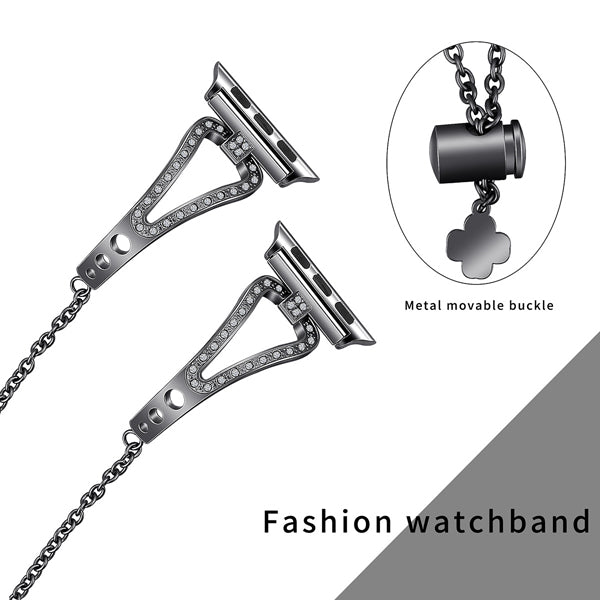 black color rhinestone apple watch band