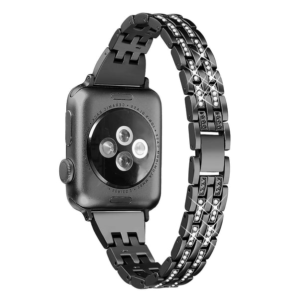 black high quality stainless steel apple watch band