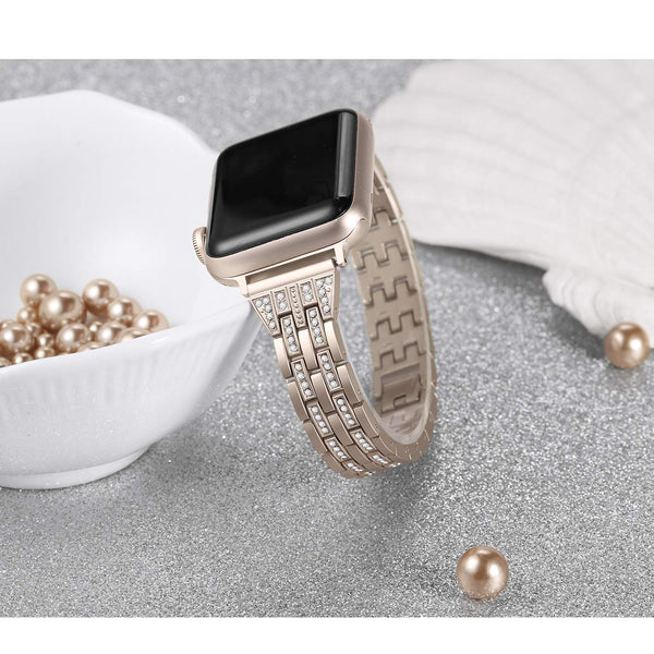 Iwatch Band for Apple Watch Link Bracelet 38mm 40mm 42mm 44mm iWatch Series 4/3/2/1 Rhinestone Wristband Strap