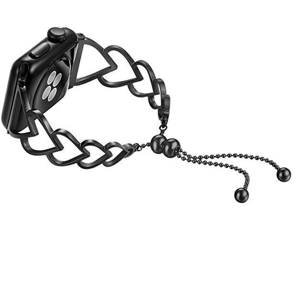 black heart shape watch strap band