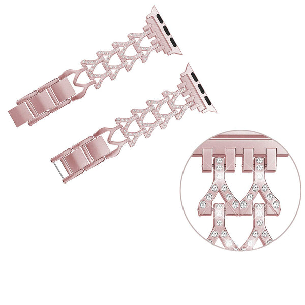 Bling Strap Bands Compatible for Apple Watch Series 4 3 2 1 Women Cuff Bracelet 38mm 40mm 42mm 44mm