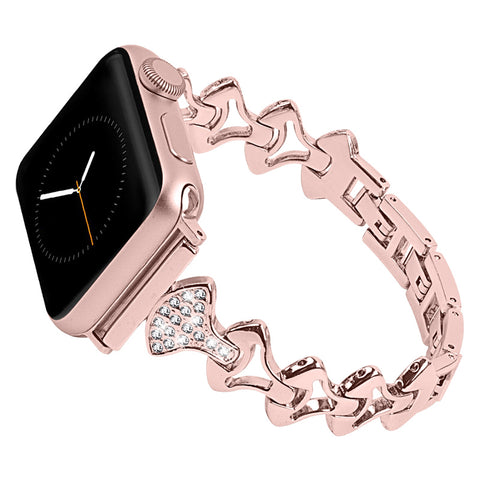 Bling Stainless Steel Wristband For Apple Watch Series 4/3/2/1 Jewelry Bands 40mm 44mm 42mm 38mm