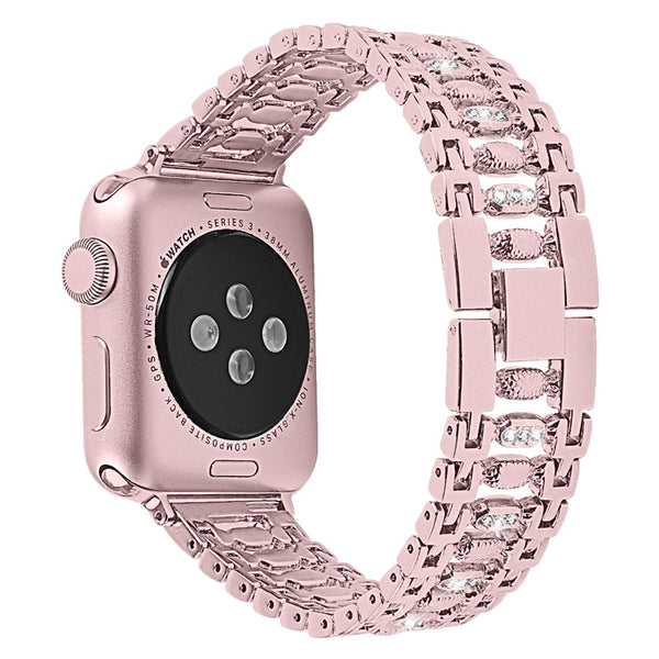 Apple Watch Bling Wristband Strap 40mm 44mm 38mm 42mm For iWatch Series 4 3 2 1 Rhinestone Stainless Steel Bracelet