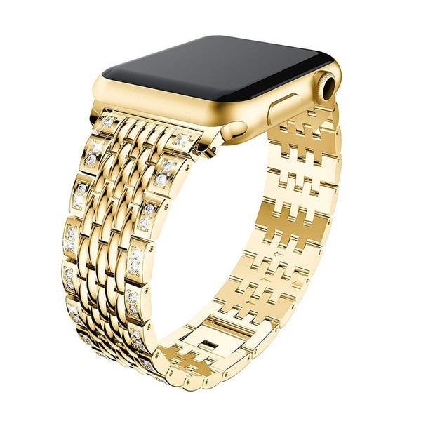 Rhinestone Stainless Steel Bands Bracelet 42mm 38mm 44mm 40mm Bling Strap For iWatch Series 4/3/ 2/1