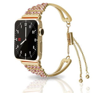 Women strap for Apple Watch band 38mm 42mm 40mm 44mm bling stainless steel metal bracelet Apple Watch 4 3 2 1