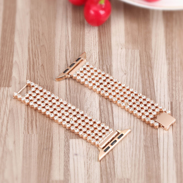 Diamond Watch Band for Apple Watch Strap Series 3 2 1 Bracelet for 44mm 40mm 42mm 38mm