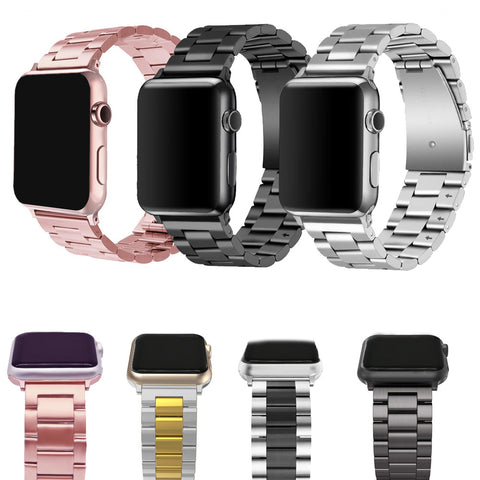 Stainless Steel bands for Apple Watch band iWatch strap rose pink 38 40 42 44 Bracelet Clasp series 4 3 2 1