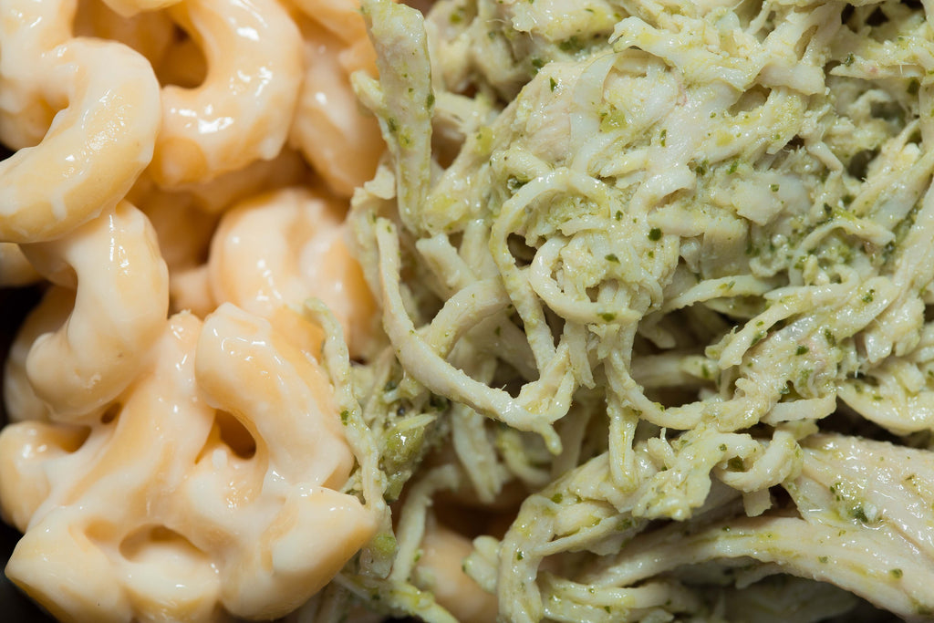 Mac & Cheese with Pesto Chicken