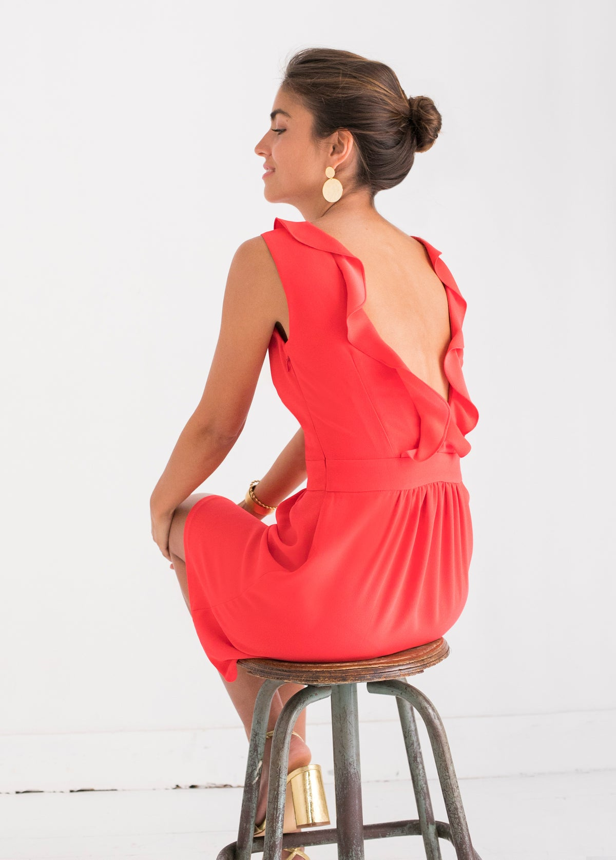 Robe Anielo Rouge coquelicot