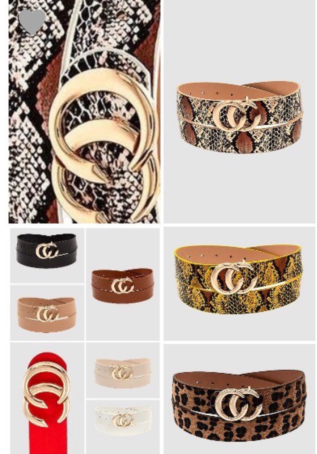 C&C Faux Belt - Forbidden Fruits Boutique