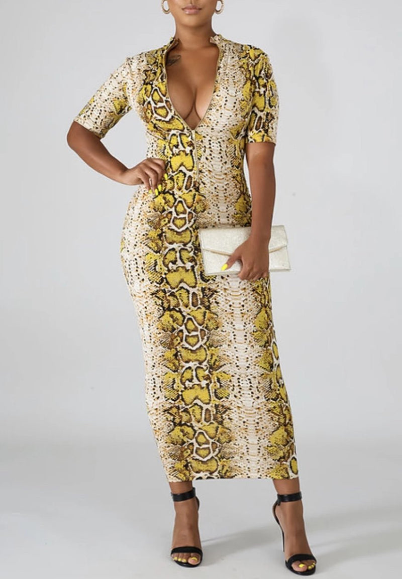 Wild Woman Golden Dress - Forbidden Fruits Boutique