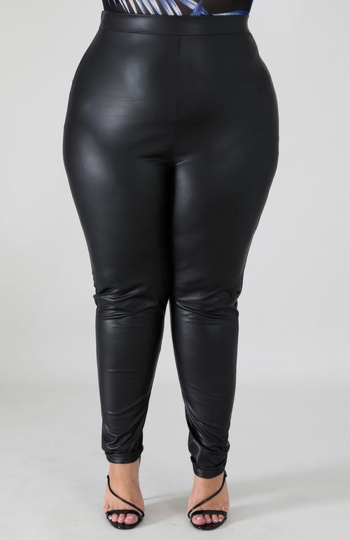 Killer Curves Faux Leatherette Legging - Forbidden Fruits Boutique