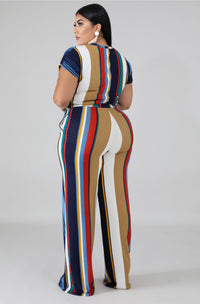 Stripes Up 2 Piece Set - Forbidden Fruits Boutique