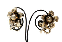 Clip On Metal Flower Earrings