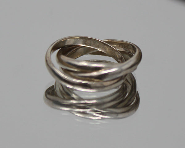 Four Simple Silver Rings