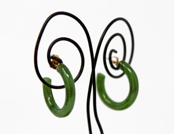 Small Jade Hoop Earrings