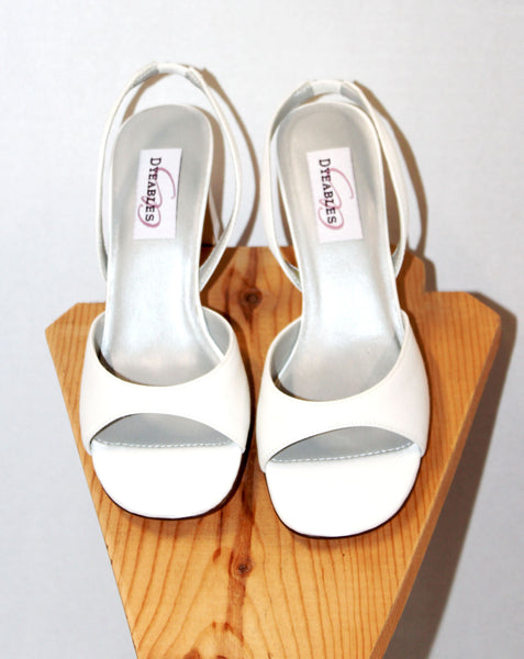 White Dyeables Heels