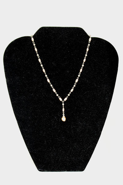 Silver Chain with Pearl Beads Necklace