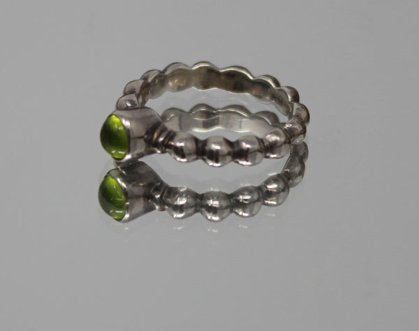Silver with Peridot Stone Ring