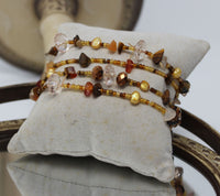 Brown Beaded Bracelets Set