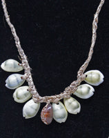 Rope Necklace with Oval Shells Necklace