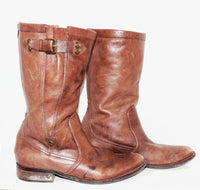 Dark Brown Tall Leather Boots