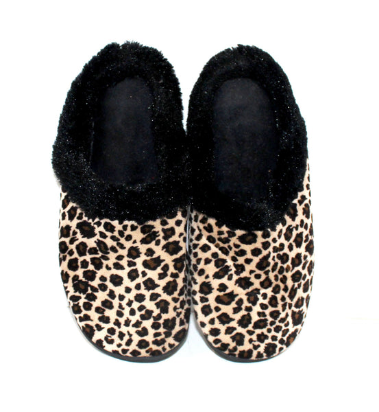 Cheetah Print with Black Lining Slippers