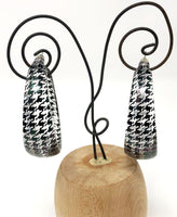 Clear Houndstooth Hoop Earrings