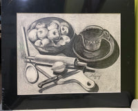 Drawing of Fruit and Kitchenware