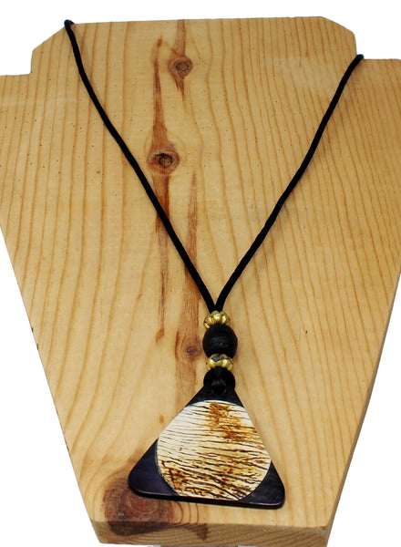 Black Triangle with Circle Necklace for Holding Reading Glasses