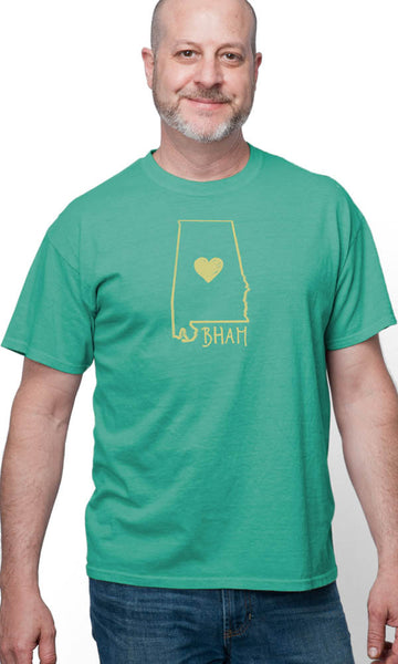 BHAM Heart on Short Sleeve Tee