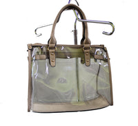 Large Tan Clear Purse