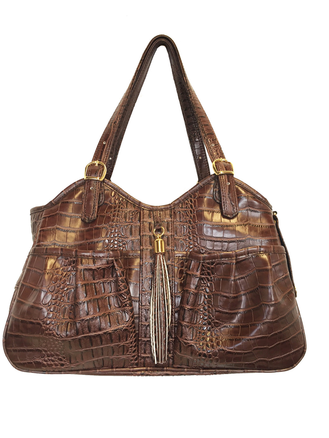 METRO BAG - BROWN CROCO