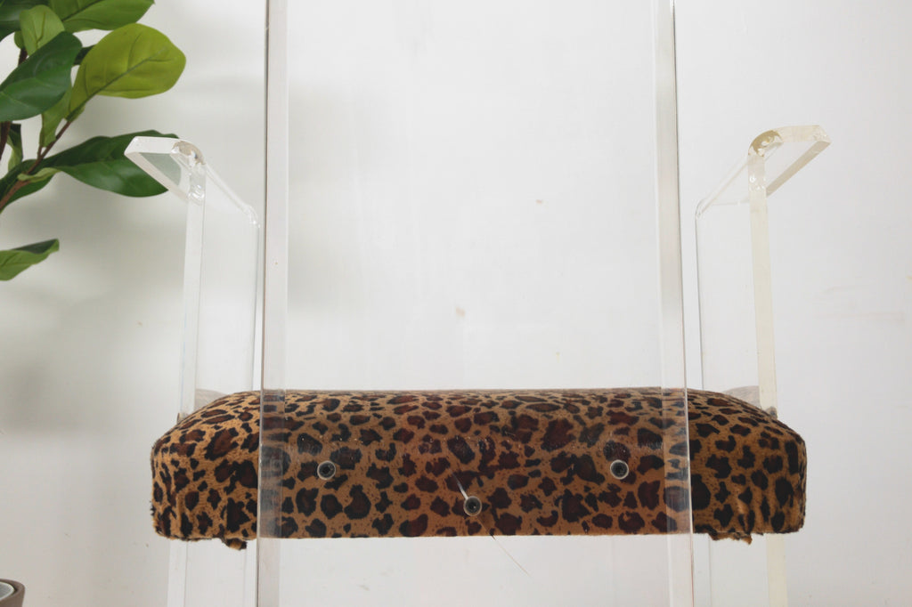 Lucite Animal Print Chair