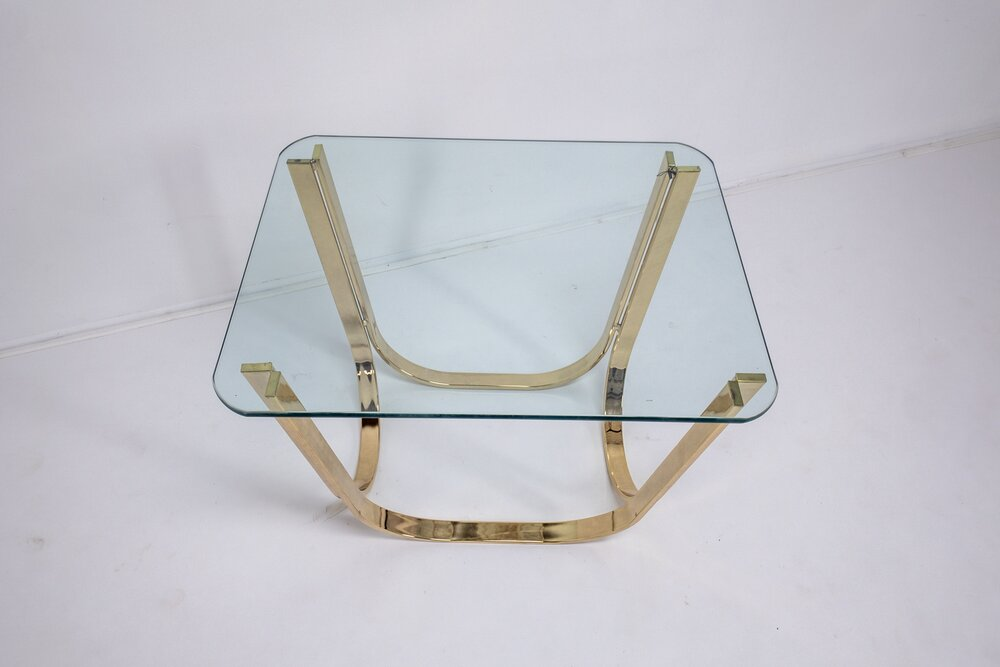 Brass Sprunger Side Table