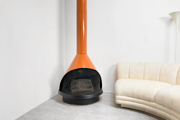 Mid-Century Electric Fireplace