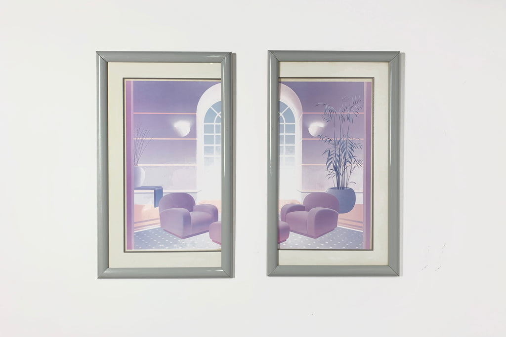 Post-Modern Living Room Diptych