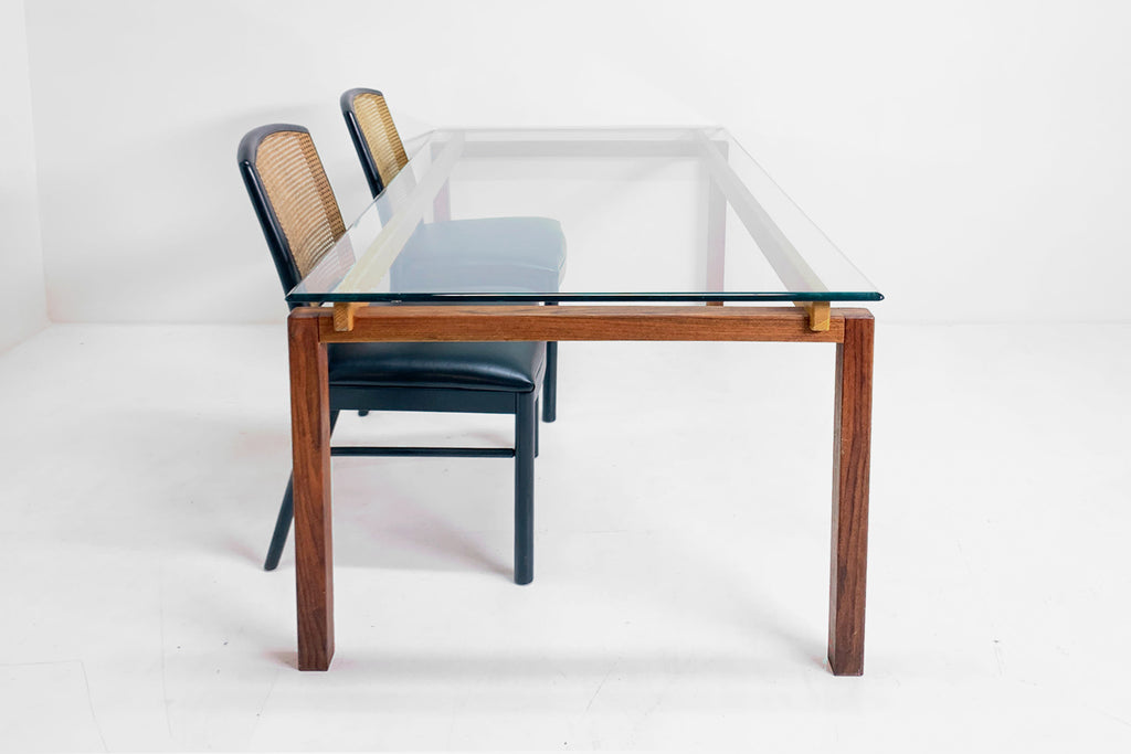 Glass Top MCM Table