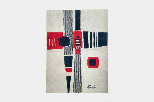 Abstract Checkered Rug