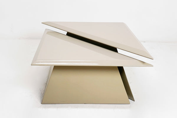 Lacquered Triangle Table Pair